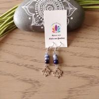 Earrings Lotus bleu