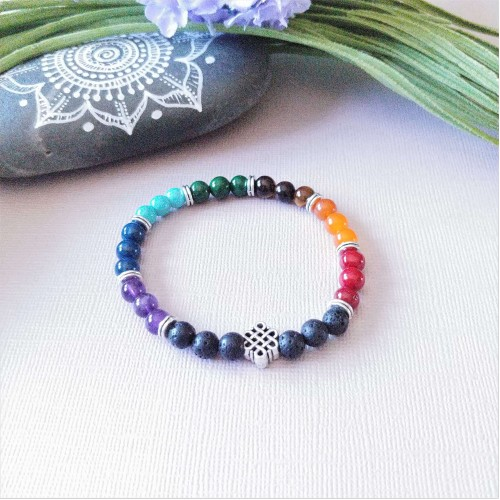 Bracelet 7 chakras infini-2