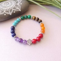 Bracelet 7 chakras infini