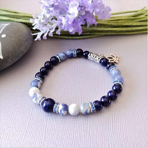 Bracelet Fleur bleue