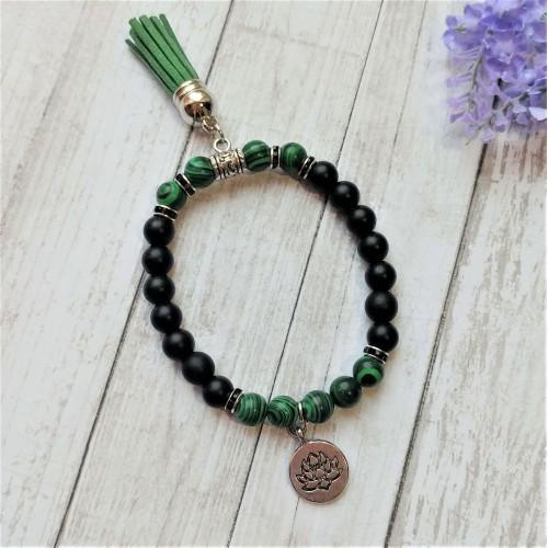Bracelet Lotus noir