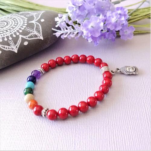 Bracelet Bonheur rouge