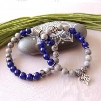 Bracelet Duo La vie en bleu