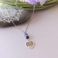 Necklace Arbre bleu