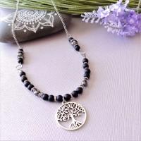 Necklace Brume noire
