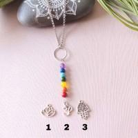 Necklace 7 chakras zen